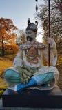 在中国桥梁的雕象在Alexanders公园, Tsarskoye Selo, Sai 库存图片