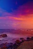 在中国海的日落 免版税库存照片