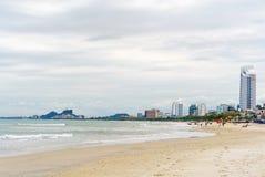 在中国海滩的海景在岘港在越南 图库摄影