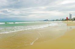 在中国海滩的海视图在岘港在越南 库存图片
