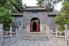 在中国的北部的特色佛教寺庙 库存图片