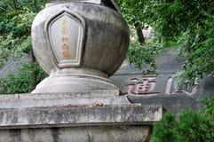 在中国的南部的特色佛教塔 免版税库存图片
