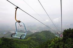 在中国的缆车 免版税库存照片
