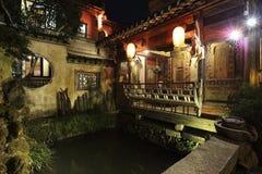 在中国详尽阐述围场,典型的历史大厦 免版税库存照片