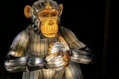 在中国轻的节日的发光的大猩猩时装模特 免版税库存图片