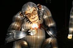 在中国轻的节日的大猩猩时装模特 免版税库存照片