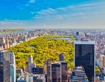 在中央公园,纽约的看法 免版税图库摄影