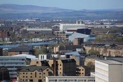 在中央格拉斯哥,苏格兰,英国的一个屋顶视图 库存图片
