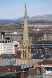在中央格拉斯哥,苏格兰,英国的一个屋顶视图 图库摄影
