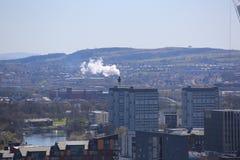 在中央格拉斯哥,苏格兰,英国的一个屋顶视图 免版税库存图片