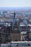 在中央格拉斯哥,苏格兰,英国的一个屋顶视图 免版税库存照片