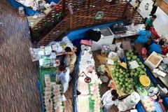在中央节日Chiangmai的Amphawa浮动市场 免版税图库摄影