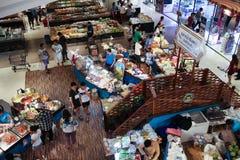在中央节日Chiangmai的Amphawa浮动市场 免版税库存照片