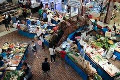 在中央节日Chiangmai的Amphawa浮动市场 免版税库存图片