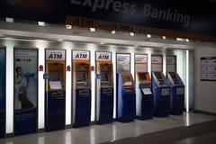 在中央Kad Suan Kaew Chiangmai的ATM机器 免版税库存照片