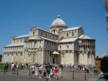 在中心位于广场的大教堂del duomo 库存图片