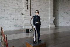 在中正纪念堂的仪仗队在台北,台湾 库存照片