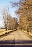 在中西部的大草原附近的土路 库存照片