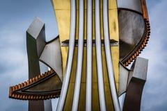 在中间地区眺望楼,巴尔的摩,马里兰的雕塑 免版税库存照片