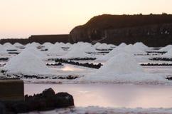 在丰卡连特角盐舱内甲板的日落  库存照片