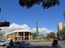 在丰希罗拉市场大厅的云彩 库存照片