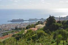 在丰沙尔,马德拉岛,葡萄牙的看法 库存图片