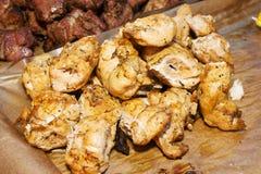 在串烤的肉 库存图片