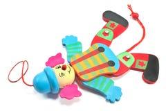 在串的机械小丑玩具 免版税库存照片