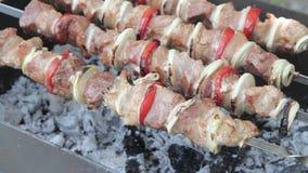 在串的烤肉串 影视素材