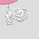 在串的纸鸟 免版税库存照片