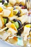 在串的被分类的果子 免版税库存图片