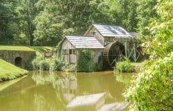 在丹附近,弗吉尼亚草甸的马布里磨房  免版税图库摄影