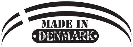 在丹麦制造的风格化邮票 库存例证