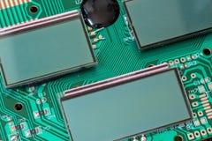 在主板的微型LCD盘区 库存照片