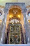 在主要法坛的临时房屋在圣布莱斯教会里在萨格勒布 库存照片