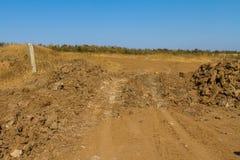 在乌克兰干草原的黏土猎物 免版税图库摄影