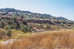 在乌克兰干草原的黏土猎物 库存图片