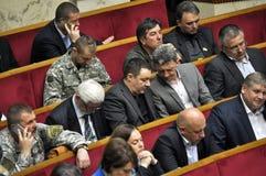 在乌克兰的Verkhovna Rada的会议大厅里 图库摄影