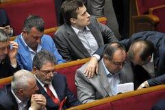 在乌克兰的Verkhovna Rada的会议大厅里 库存照片