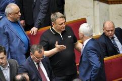 在乌克兰的Verkhovna Rada的会议大厅里 免版税库存照片