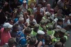 在乌克兰议会之外的碰撞 免版税图库摄影