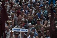 在乌克兰议会之外的碰撞 图库摄影
