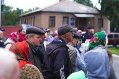 在乌克兰镇抗议行动在2017年10月2日的切尔卡瑟地区 库存照片