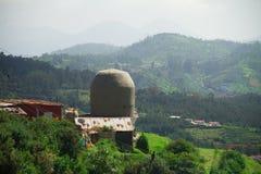 在乌塔卡蒙德附近,印度镇的圣洁希瓦寺庙  库存图片