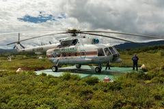 在乌宗火山破火山口的停机坪 图库摄影