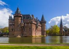 在乌得勒支-荷兰附近的德哈尔城堡 免版税库存照片