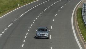 在乌斯季nad Labem市附近的高速公路 库存图片