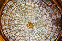 在乌菲齐画廊的天花板壁画,佛罗伦萨,意大利 免版税库存图片