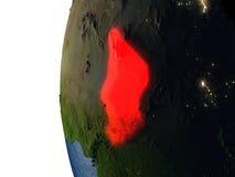 在乍得的日落从空间 向量例证