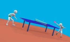 在乒乓球的戏剧Setta 库存例证